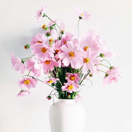 Skal der blomster på bordet? Ingen problemer. Det hjælper vi også med.
